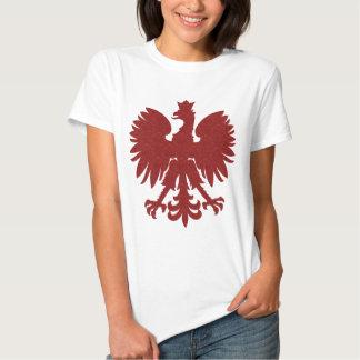 Polaco rojo Eagle del damasco Poleras