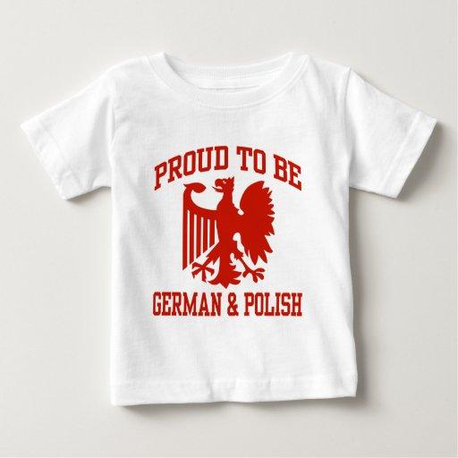 Polaco y alemán tee shirts