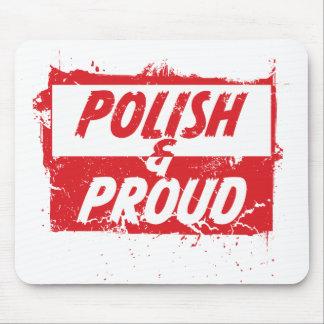 Polaco y orgulloso alfombrillas de raton