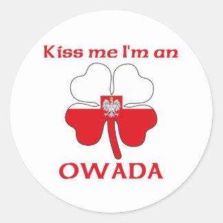 Polacos personalizada me besan que soy Owada Etiquetas Redondas