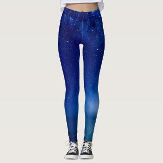 Polainas azules del personalizado del cielo leggings