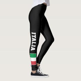 Polainas de encargo de la bandera italiana para el leggings