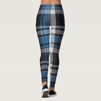polainas de la tela escocesa leggings
