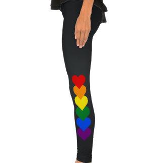 Polainas de los corazones del orgullo de LGBT