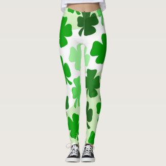 Polainas del irlandés de los tréboles leggings