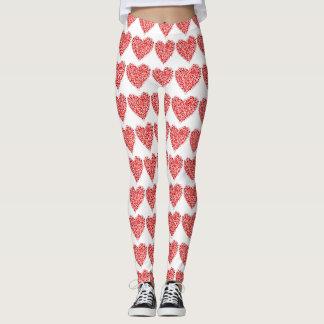Polainas del modelo del corazón del lunar leggings
