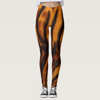Polainas frescas del naranja y del negro de la leggings