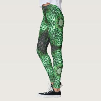 Polainas geométricas de la textura del cactus leggings