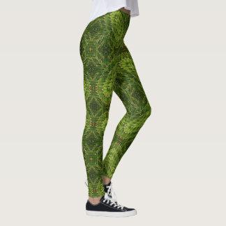 Polainas geométricas del cactus verde leggings