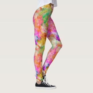 Polainas multicoloras lindas del arte de la leggings