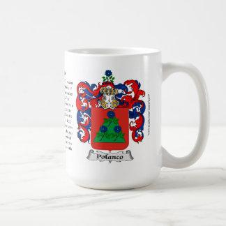 Polanco, el origen, el significado y el escudo tazas de café
