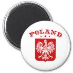 Poland 2 Inch Round Magnet