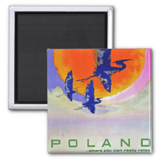 Poland 2 Inch Square Magnet