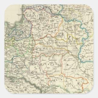 Poland and Lithuania 1386-1572 Square Sticker
