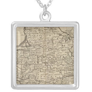 Poland and Lithuania Square Pendant Necklace