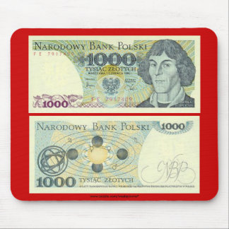 Poland Banknote 1000 zloty Mouse Pad