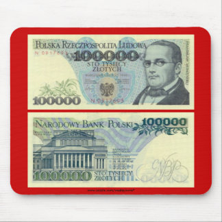 Poland Banknote 100,000 zloty Mouse Pad