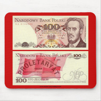 Poland Banknote 100 zloty Mouse Pad