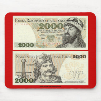 Poland Banknote 2000 zloty Mouse Pad