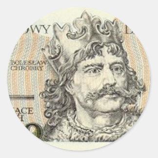 Poland Banknote 2000 zloty Round Stickers