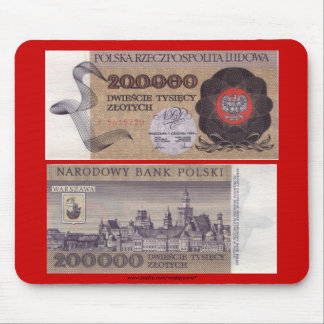 Poland Banknote 200,000 zloty Mouse Pad