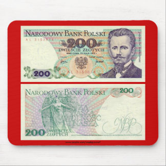 Poland Banknote 200 zloty Mouse Pad