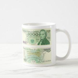 Poland Banknote 5000 zloty Coffee Mug