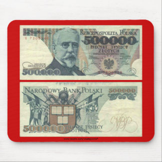 Poland Banknote 500,000 zloty Mouse Pad