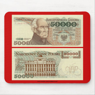 Poland Banknote 50,000 zloty Mouse Pad