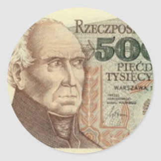 Poland Banknote 50,000 zloty Stickers