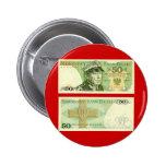 Poland Banknote 50 zloty Button