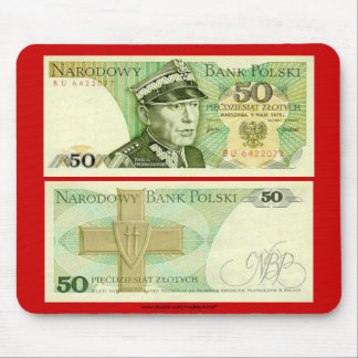 Poland Banknote 50 zloty Mouse Pad