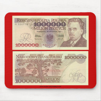 Poland Banknote One Million zloty Mouse Pad