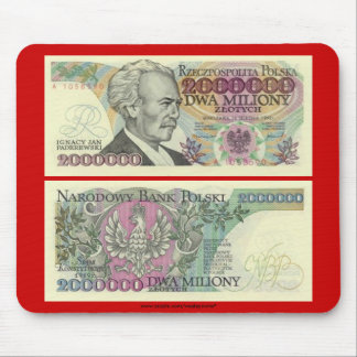 Poland Banknote Two Million zloty Mouse Pad