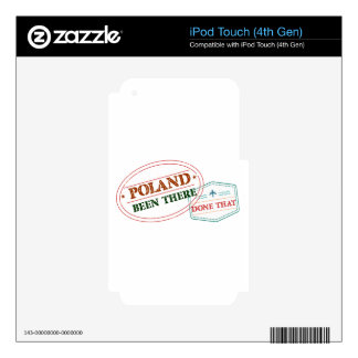 Poland Been There Done That Decal For iPod Touch 4G