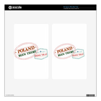 Poland Been There Done That Decals For Kindle Fire