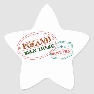 Poland Been There Done That Star Sticker