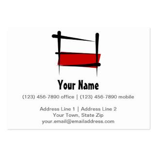 Poland Brush Flag Business Cards