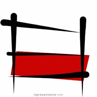 Poland Brush Flag Cutout