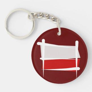 Poland Brush Flag Keychain