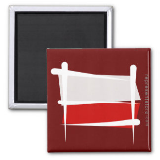 Poland Brush Flag Magnet