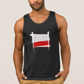 Poland Brush Flag Tank Top