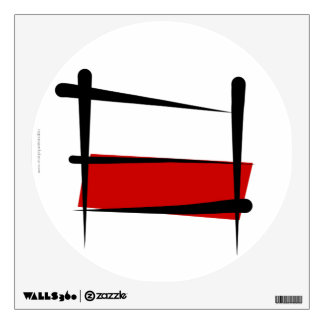 Poland Brush Flag Wall Decal