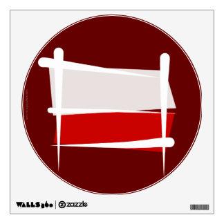 Poland Brush Flag Wall Sticker