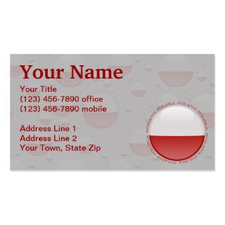 Poland Bubble Flag Business Card