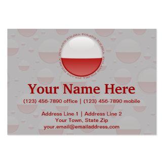 Poland Bubble Flag Business Cards