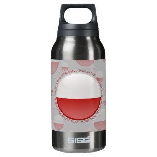Poland Bubble Flag Insulated Water Bottle