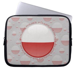 Poland Bubble Flag Laptop Sleeves