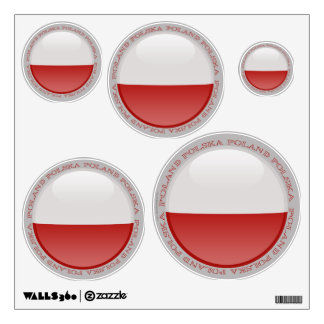 Poland Bubble Flag Wall Decal