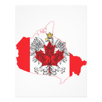 Poland Canada Flag Map Full Color Flyer